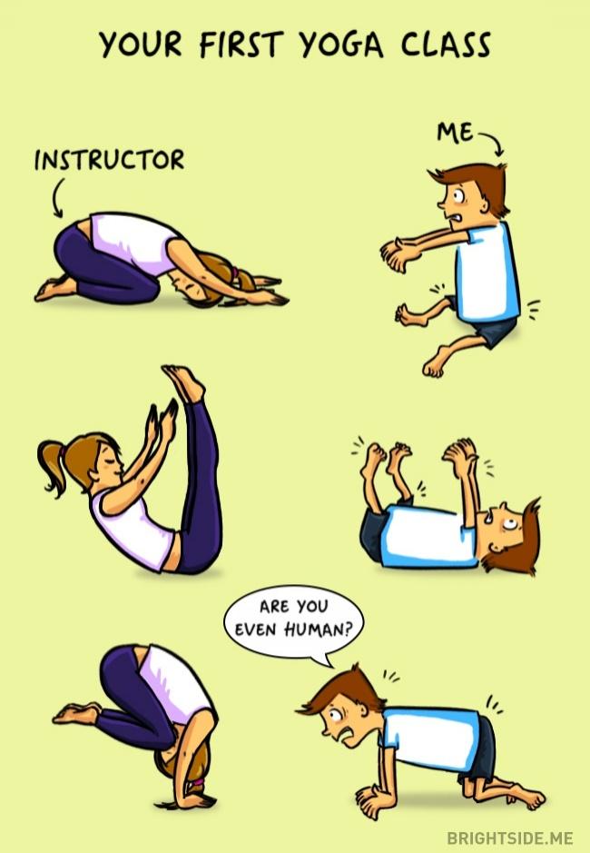 """İlk yoga dersiniz: Hoca/Ben/ """"İnsan mısın sen?"""""""